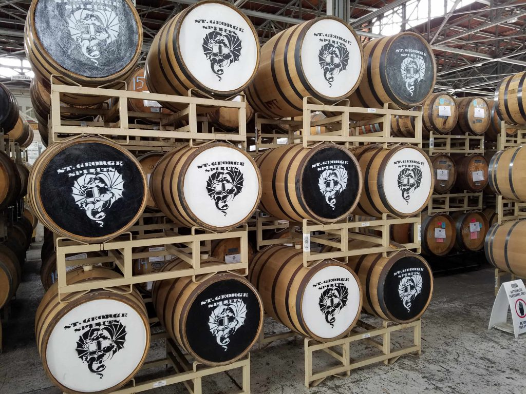 Saint George Distillery Barrels