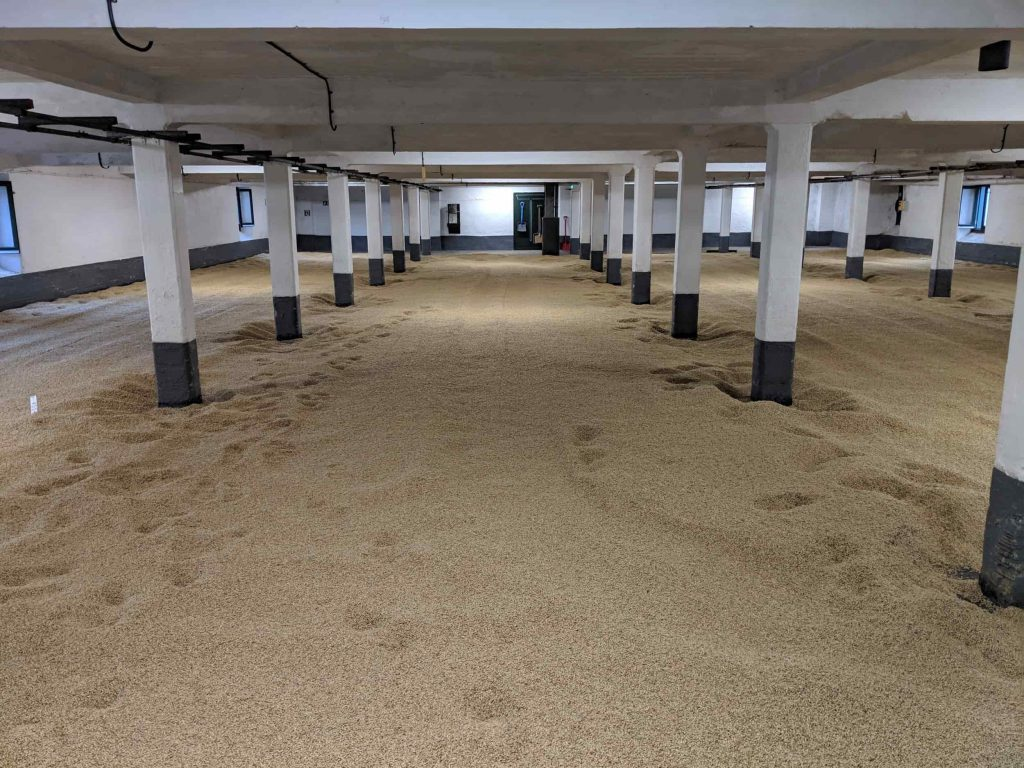 Floor malting in distillery