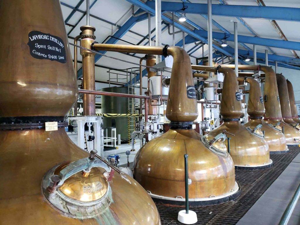 Several copper stills
